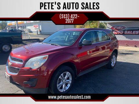 2010 Chevrolet Equinox for sale at PETE'S AUTO SALES - Middletown in Middletown OH