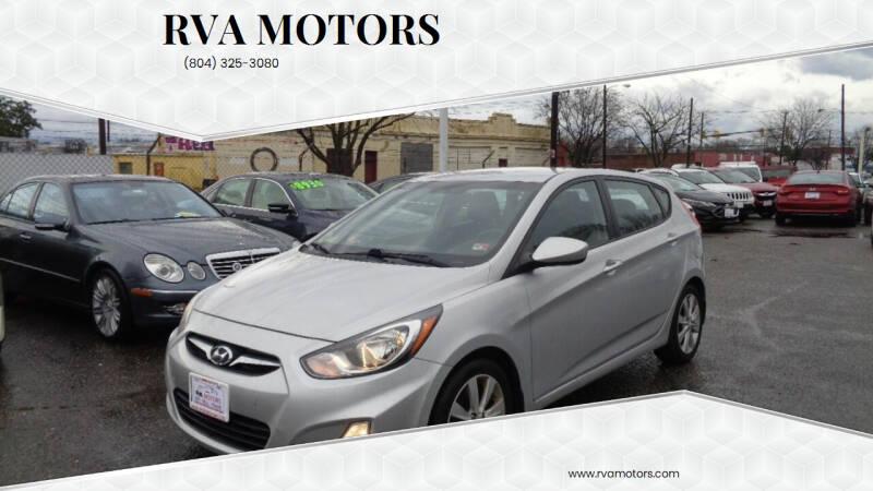 2012 Hyundai Accent for sale at RVA MOTORS in Richmond VA