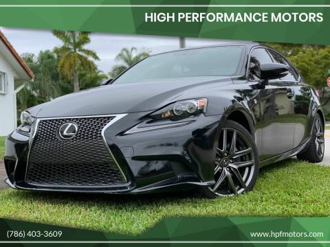 2014 Lexus IS 250 for sale at HIGH PERFORMANCE MOTORS in Hollywood FL