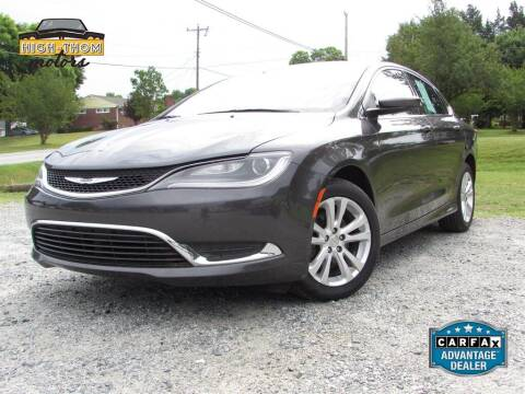2015 Chrysler 200 for sale at High-Thom Motors in Thomasville NC