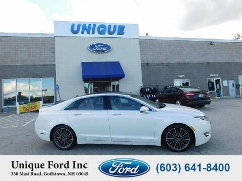 2016 Lincoln MKZ for sale at Unique Motors of Chicopee - Unique Ford in Goffstown NH