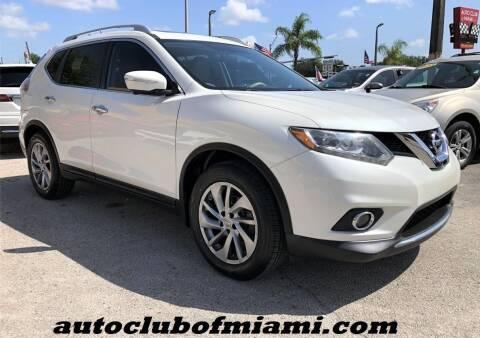 2015 Nissan Rogue for sale at AUTO CLUB OF MIAMI, INC in Miami FL