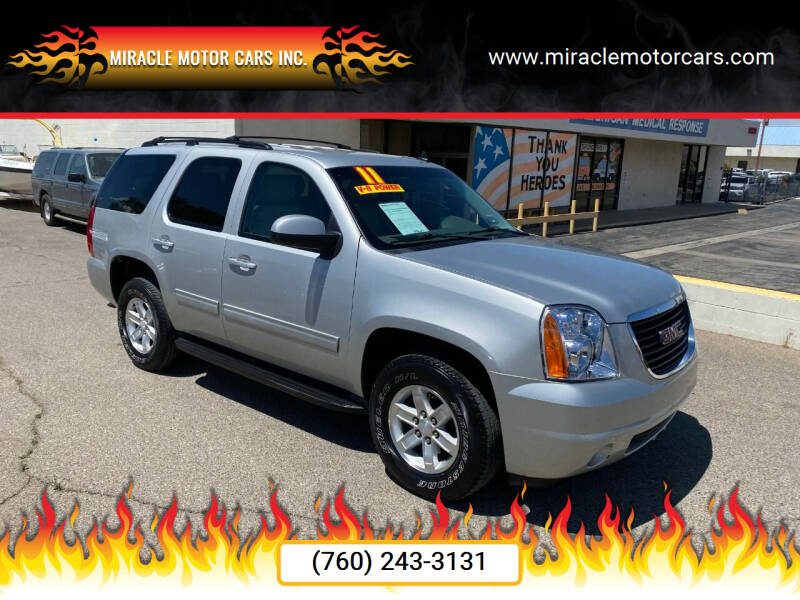 2011 GMC Yukon for sale at Miracle Motor Cars Inc. in Victorville CA