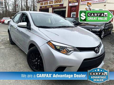 2014 Toyota Corolla for sale at High Rated Auto Company in Abingdon MD