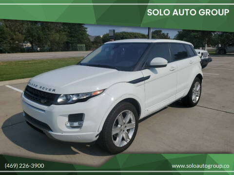 2015 Land Rover Range Rover Evoque for sale at Solo Auto Group in Mckinney TX