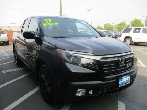 2017 Honda Ridgeline for sale at Choice Auto & Truck in Sacramento CA