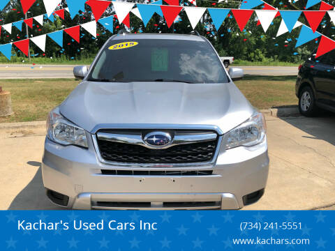 2015 Subaru Forester for sale at Kachar's Used Cars Inc in Monroe MI