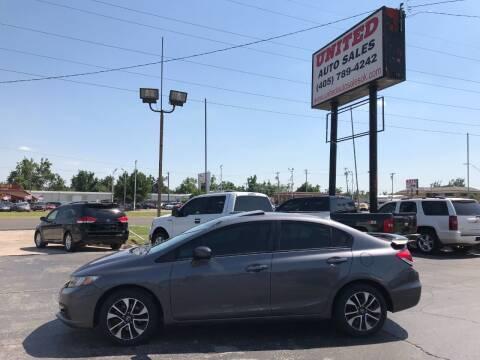 2014 Honda Civic for sale at United Auto Sales in Oklahoma City OK