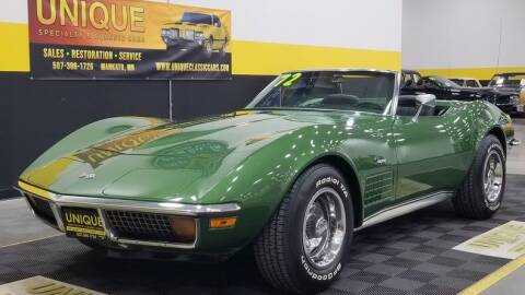 1972 Chevrolet Corvette for sale at UNIQUE SPECIALTY & CLASSICS in Mankato MN
