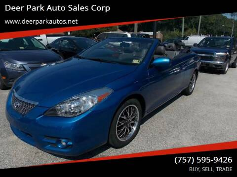 2008 Toyota Camry Solara for sale at Deer Park Auto Sales Corp in Newport News VA