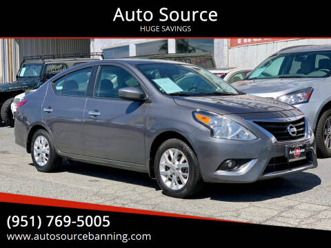 2017 Nissan Versa for sale at Auto Source in Banning CA