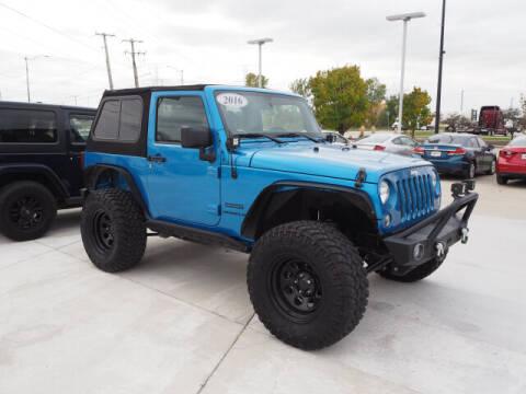 2016 Jeep Wrangler for sale at SIMOTES MOTORS in Minooka IL