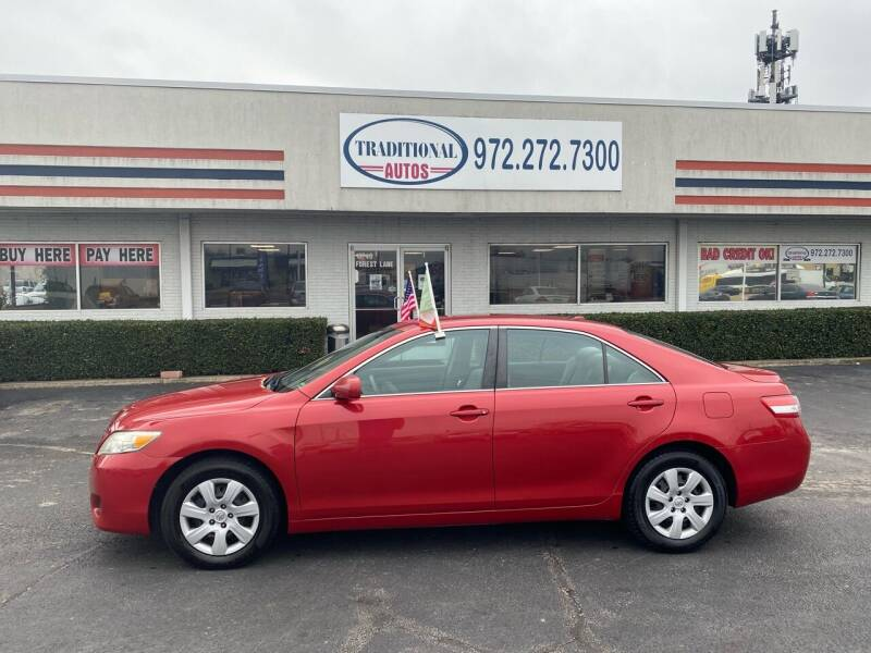 2011 Toyota Camry for sale at Traditional Autos in Dallas TX