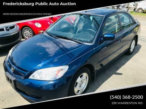 2005 Honda Civic for sale at FPAA in Fredericksburg VA