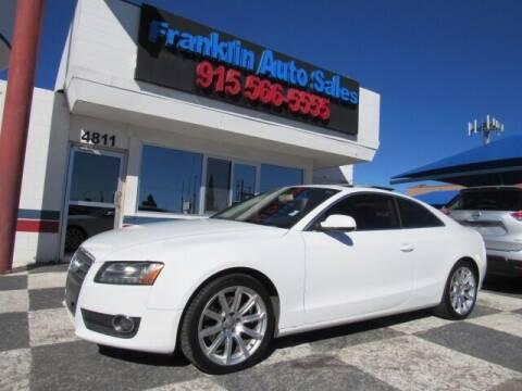 2011 Audi A5 for sale at Franklin Auto Sales in El Paso TX