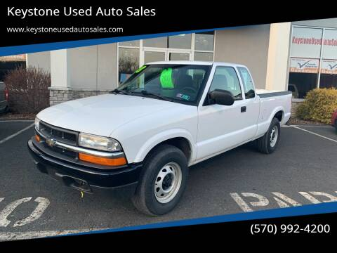 2003 Chevrolet S-10 for sale at Keystone Used Auto Sales in Brodheadsville PA