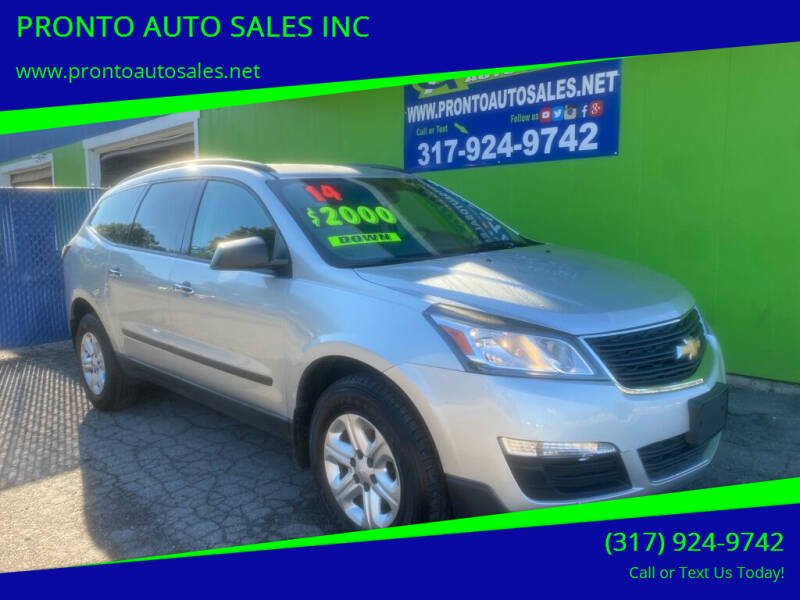 2014 Chevrolet Traverse for sale at PRONTO AUTO SALES INC in Indianapolis IN