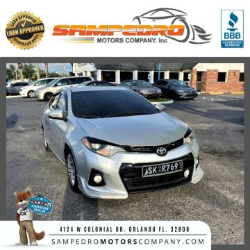 2016 Toyota Corolla for sale at SAMPEDRO MOTORS COMPANY INC in Orlando FL
