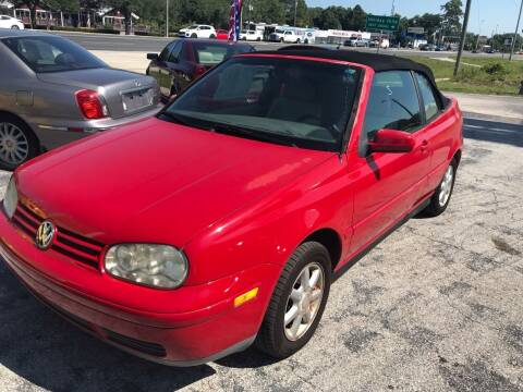 1999 Volkswagen Cabrio for sale at Jack's Auto Sales in Port Richey FL