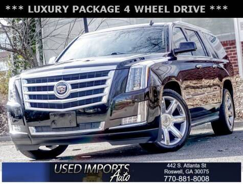 2015 Cadillac Escalade ESV for sale at Used Imports Auto in Roswell GA