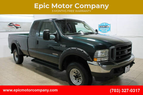 2004 Ford F-350 Super Duty for sale at Epic Motor Company in Chantilly VA
