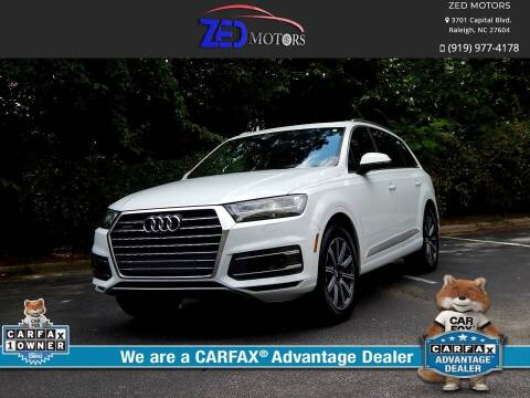 2017 Audi Q7 for sale at Zed Motors in Raleigh NC
