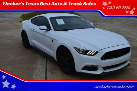 2015 Ford Mustang for sale at Fincher's Texas Best Auto & Truck Sales in Tomball TX