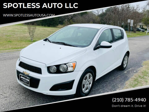 2014 Chevrolet Sonic for sale at SPOTLESS AUTO LLC in San Antonio TX