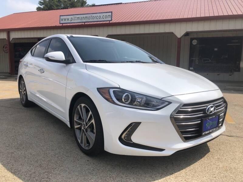 2017 Hyundai Elantra for sale at PITTMAN MOTOR CO in Lindale TX