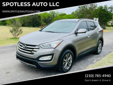 2016 Hyundai Santa Fe Sport for sale at SPOTLESS AUTO LLC in San Antonio TX