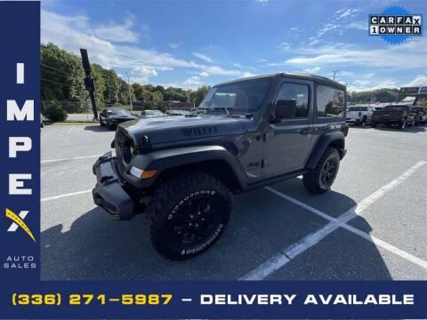 2020 Jeep Wrangler for sale at Impex Auto Sales in Greensboro NC