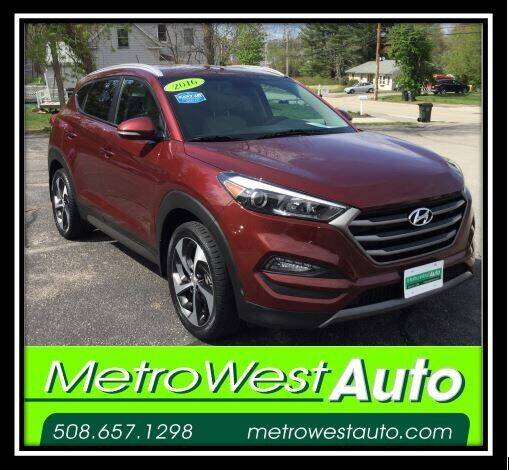 2016 Hyundai Tucson for sale at Metro West Auto in Bellingham MA