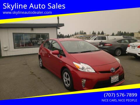 2014 Toyota Prius for sale at Skyline Auto Sales in Santa Rosa CA