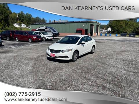 2014 Honda Civic for sale at DAN KEARNEY'S USED CARS in Center Rutland VT