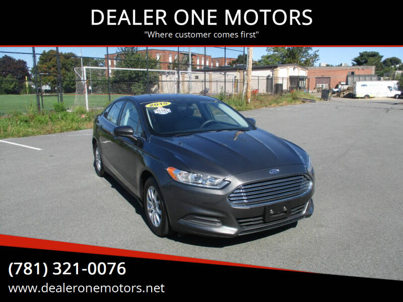 2015 Ford Fusion for sale at DEALER ONE MOTORS in Malden MA