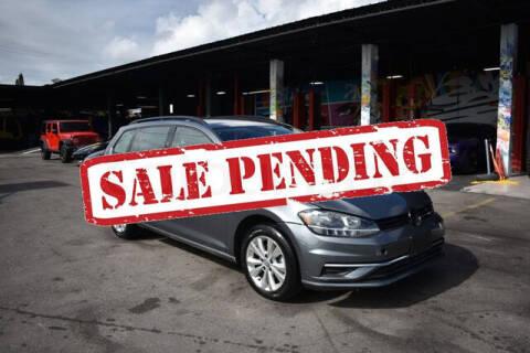 2019 Volkswagen Golf SportWagen for sale at ELITE MOTOR CARS OF MIAMI in Miami FL