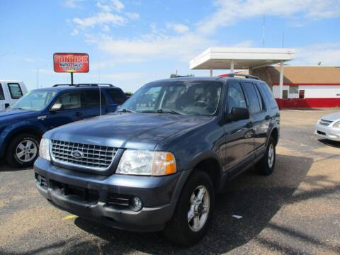 2003 Ford Explorer for sale at Sunrise Auto Sales in Liberal KS