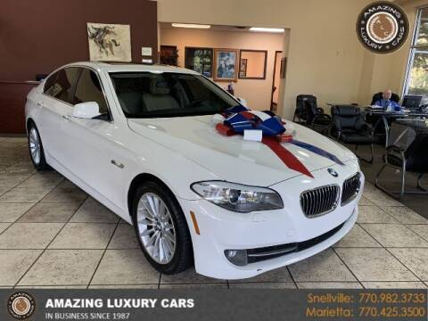2013 BMW 5 Series for sale at Amazing Luxury Cars in Snellville GA