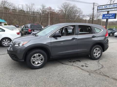 2012 Honda CR-V for sale at M G Motors in Johnston RI