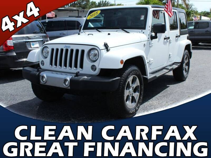 2018 Jeep Wrangler JK Unlimited for sale at Palm Beach Auto Wholesale in Lake Park FL