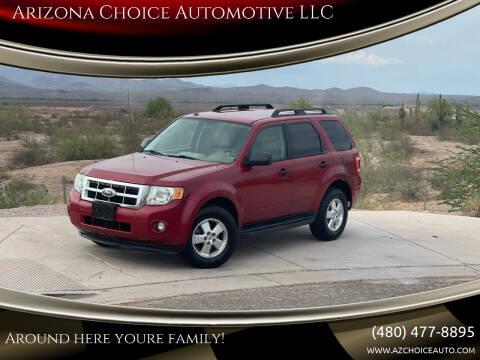 2011 Ford Escape for sale at Arizona Choice Automotive LLC in Mesa AZ