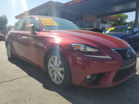2015 Lexus IS 250 for sale at ALL CREDIT AUTO SALES in San Jose CA