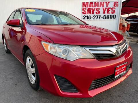 2013 Toyota Camry for sale at Manny G Motors in San Antonio TX