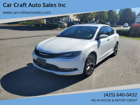 2015 Chrysler 200 for sale at Car Craft Auto Sales Inc in Lynnwood WA