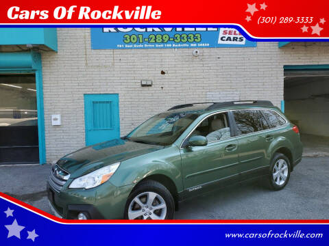 2013 Subaru Outback for sale at Cars Of Rockville in Rockville MD