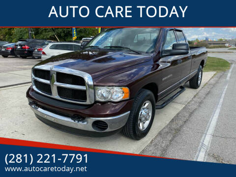 2005 Dodge Ram Pickup 3500 for sale at AUTO CARE TODAY in Spring TX