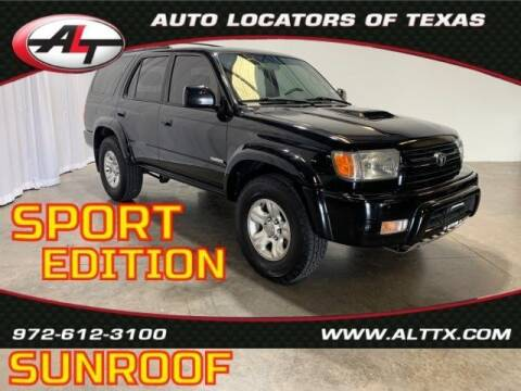 2002 Toyota 4Runner for sale at AUTO LOCATORS OF TEXAS in Plano TX