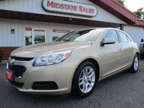 2015 Chevrolet Malibu for sale at Midstate Sales in Foley MN