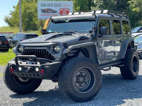 2019 Jeep Wrangler Unlimited for sale at A&M Auto Sales in Edgewood MD