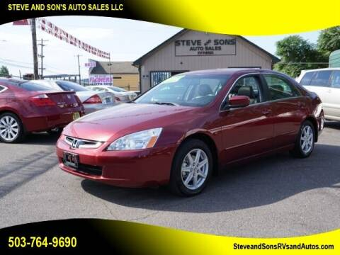 2004 Honda Accord for sale at Steve & Sons Auto Sales in Happy Valley OR